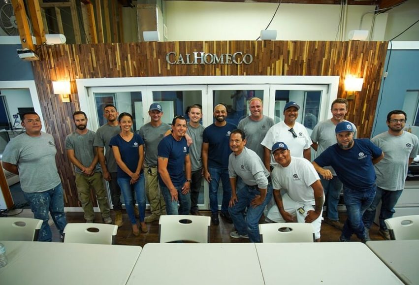 calhomeco construction team photo