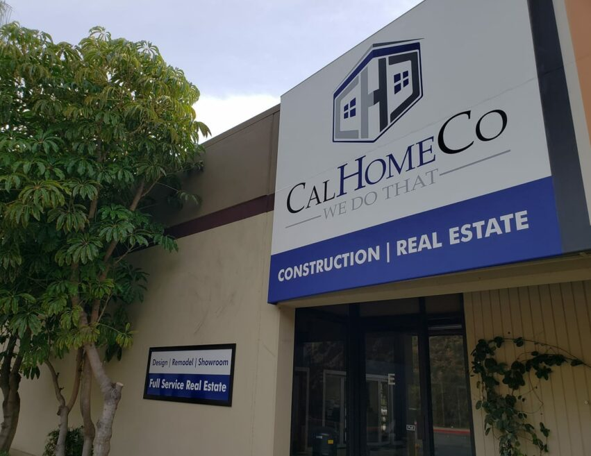 calhomeco office front sign